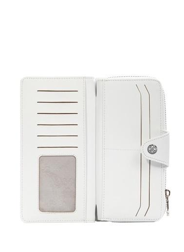 Cengiz Pakel Kadin Cüzdan-Portföy 65204M Maddy-Beyaz Beyaz
